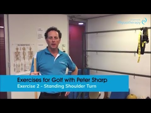 Exercises for Golf Part 2 – Standing Shoulder Turn