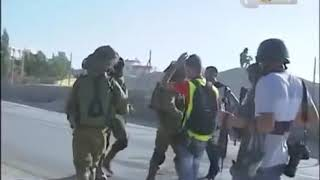 Israeli soldiers filmed assault  unarmed palestinian during west bank protest Palestine for Peace