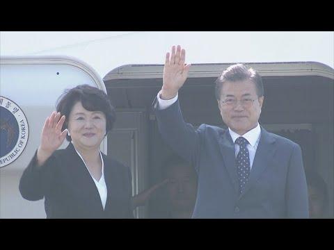 [현장연결] 문 대통령, 러시아 출국…푸틴과 세 번째 정상회담 / 연합뉴스TV (YonhapnewsTV)