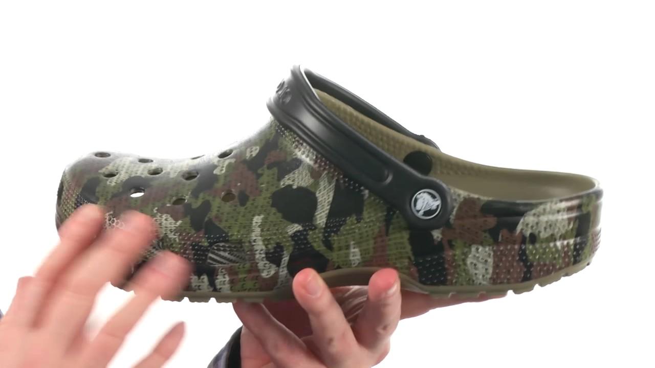 f4f45431f Crocs Classic Camo Clog SKU 8805001 - YouTube