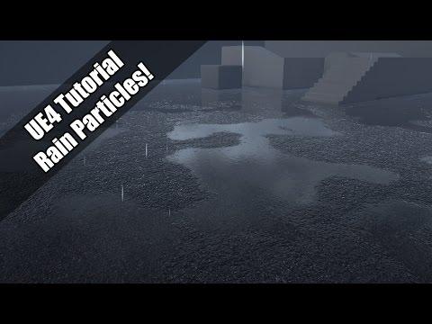 UE4 - Tutorial - Simple Rain Particles