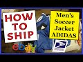 How To Ship a Men's Soccer Jacket ADIDAS | Fast, Easy & Cheap | USPS Padded Flat Rate Envelope