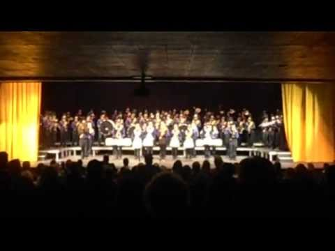 Lewiston High School Fall Concert - Marching Band - Bengal Fight song fall 2012