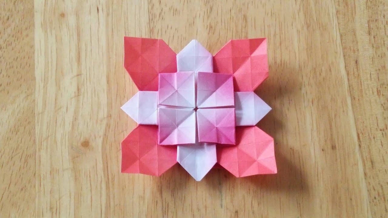 折り紙の 折り紙の花 : 折り紙(おりがみ)・アジサイ ...
