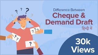 DIFFERENCE BETWEEN | CHEQUE & DEMAND DRAFT | Explanation in hindi by Financial Adda