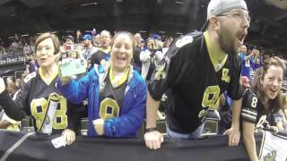 Saints fans do Who Dat chant before Giants game
