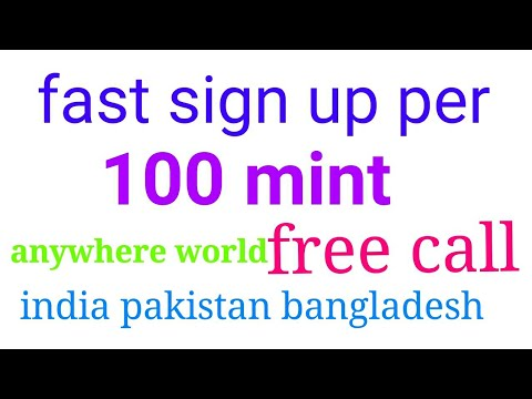 100 mint free call anywhere world first time sign up per 100 mint free call