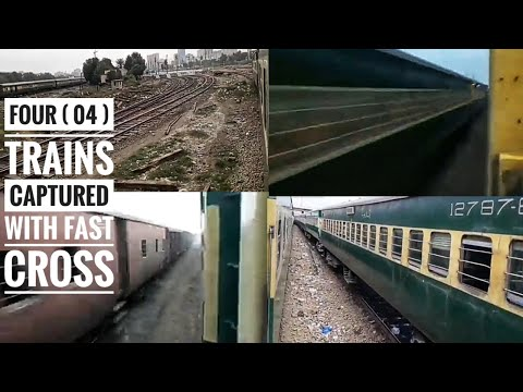 Business Express Cross Multan Express & Shalimar Express & Goods Train 2018