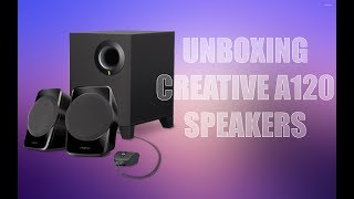 Creative A120 2.1 channel Speakers Unboxing quick look