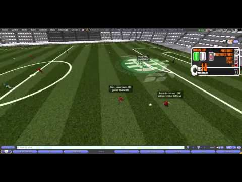 VES (Virtual Evolution Soccer) Second Life Saint-Etiene 2 vs 4 Bayer Leverkusen