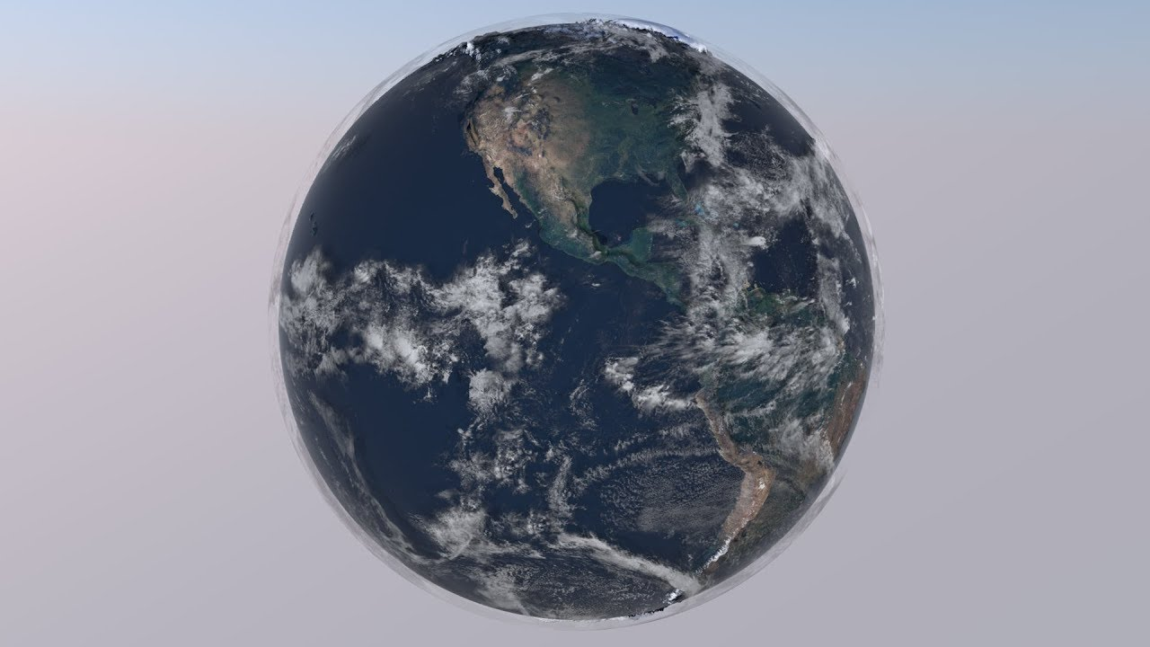 Relief Earth -  3D Model Animate video