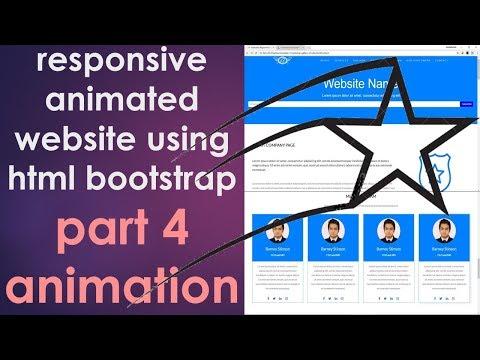 4/4: Adding Animation   Create Animated Responsive Modern Website   Example 4