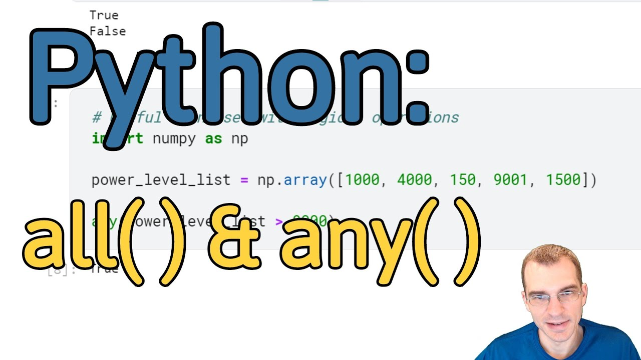 How To Use all() and any() in Python