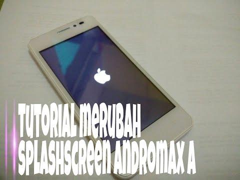 Tutorial install merubah splashscreen di Andromax A