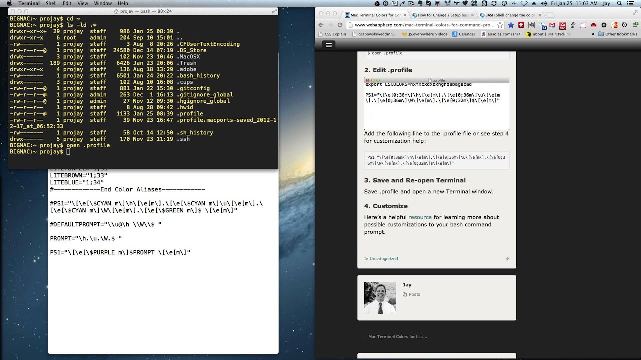 Mac Terminal Colors for Command Prompt