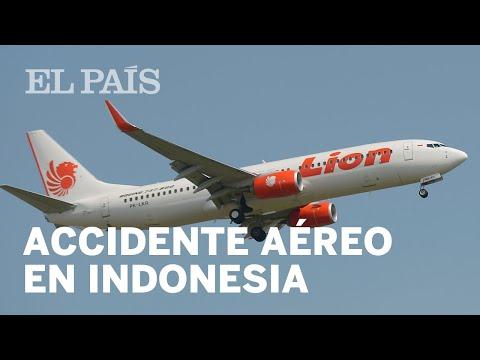 Un AVIÓN de Lion Air SE ESTRELLA en INDONESIA con 189 personas a bordo