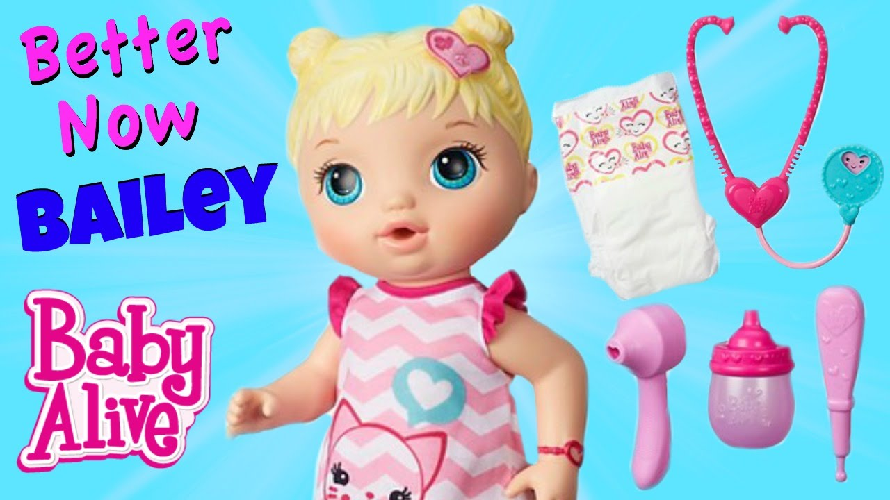 Baby Alive Better Now Bailey New 2016 Baby Drinks Amp Pees
