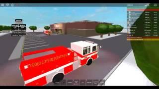 ROBLOX-Sioux City Fire Department reagiert auf einen Feueralarm bei Walmart