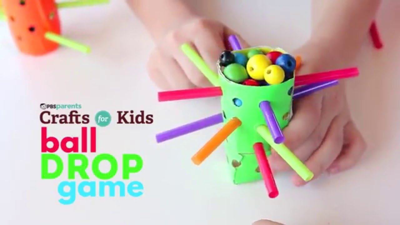 Ball Drop Game | PBS Parents | Crafts for Kids - YouTube