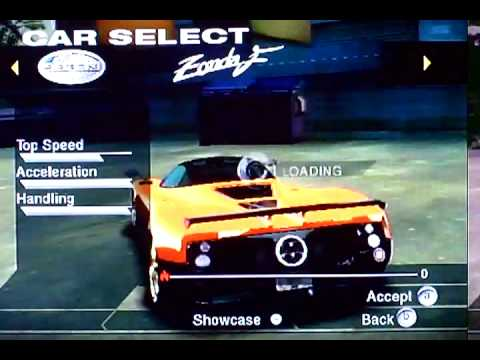 nfs undercover wii:all cars