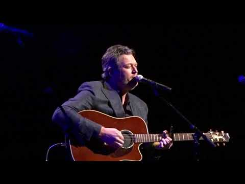 Blake Shelton Performing Over You at the Troy Gentry Foundation Concert