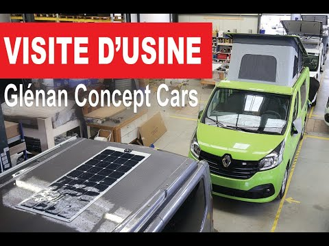 visite de l 39 usine des fourgons am nag s de gl nan concept cars youtube. Black Bedroom Furniture Sets. Home Design Ideas
