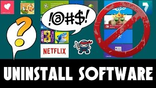 How To Uninstall A Software Or Programs In Windows 8