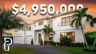 Inside A $5,495,000 Modern Home In Boca Raton, Florida | Propertygrams House Tour