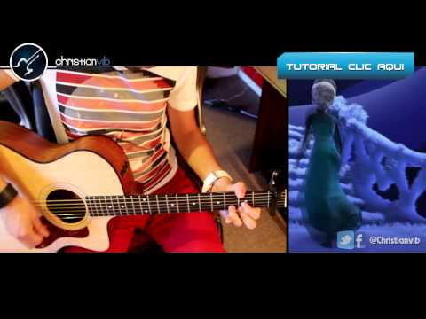Let It Go Cover Guitar Tutorial Demo FROZEN Acoustic