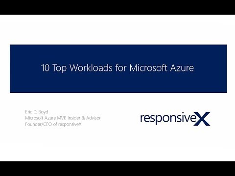 10 Top Cloud Workloads in Azure