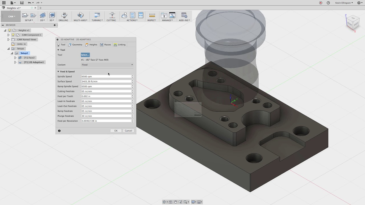 Fusion 360 - CAM Heights Tab Explained