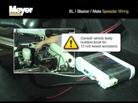 meyer products bl, blaster and mate spreader wiring