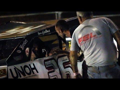 Kenny Wallace crew member choke slams Paul Bailey