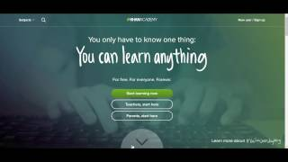 Khan Academy: Brief Overview And Tutorial For Home Educators/ Home Schoolers