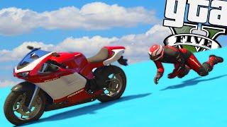 GTA Online: As motos me ODEIAM!!! -Corrida ACROBÁTICA #11