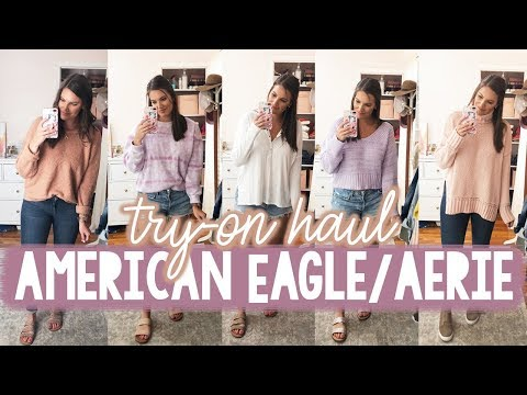 AERIE & AMERICAN EAGLE TRY-ON HAUL - PRE-FALL 2019 | Sarah Brithinee