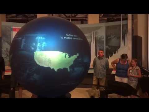 Ellis Island Immigration Museum globe