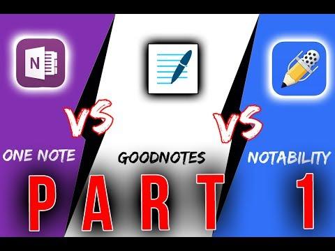 Notability vs OneNote vs GoodNotes | iPad Pro  [ Teil 1 ]