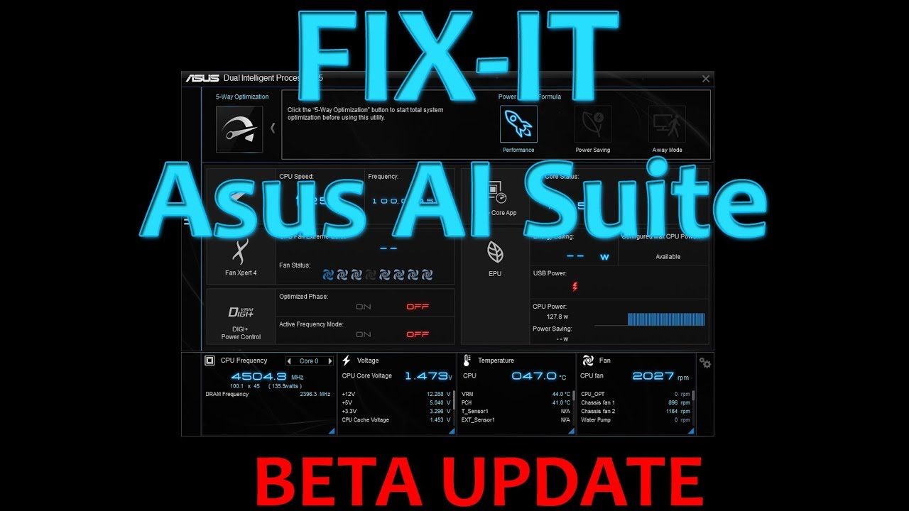 Asus AI Suite FIX - After Windows 10 (KB4056892) update patch errors