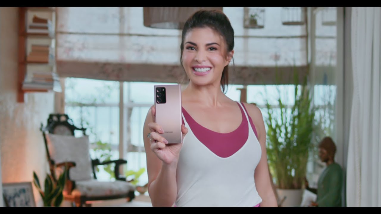 Galaxy Note20 Ultra: Jacqueline Fernandes is now Working from Note | Samsung