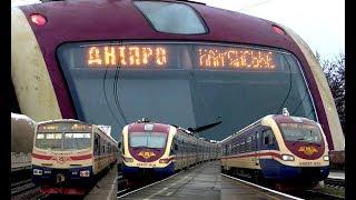 Электропоезда серии ЭПЛ2Т на участке Днепр - Камянское(, 2017-12-24T09:30:01.000Z)