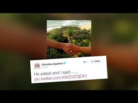 Christina Aguilera Engaged To Matthew Rutler   Splash News TV   Splash News TV