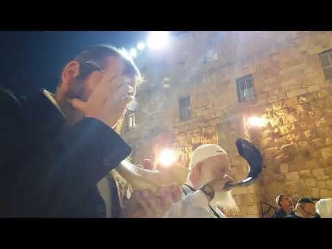 """סליחות בכותל המערבי מוצ""""ש western wall Jerusalem selichot"""
