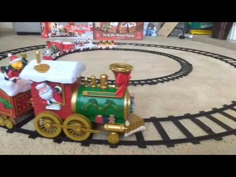 Christmas small holiday express train and north pole musical express