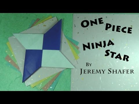One-Piece Origami Shuriken Ninja Star Tutorial