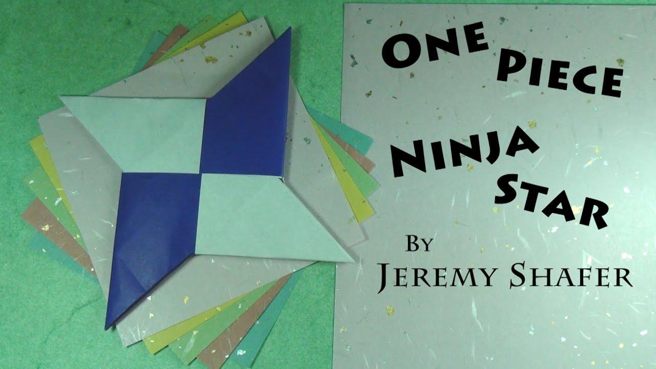 One-Piece Origami Shuriken Ninja Star Tutorial - YouTube - photo#40