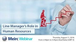 Line Managers Role in Human Resources | Human Resources and Training | Dubai | Meirc