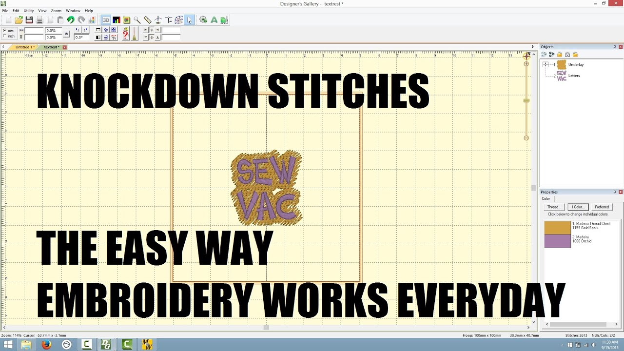 Embroidery works knockdown stitches the easy way youtube