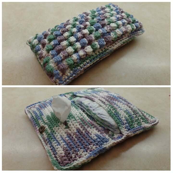 CROCHET How To #Crochet Bobble Stitch Diaper & Wipe Holder ...