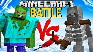 LE MUTANT ZOMBIE VS MUTANT SKELETON ! | Minecraft Battle